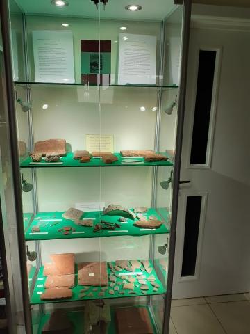 Roman Bath House Artifacts Display Case